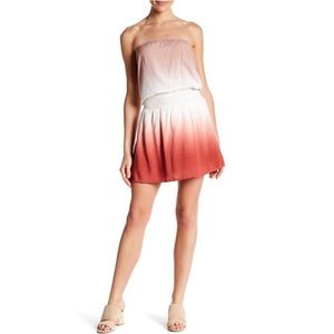 AAKAA Strapless Ombre Mini Dress With Pockets